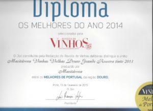 Maritávora-Grande-Reserva-Red-2011-Diploma-Revista-dos-Vinhos-2014