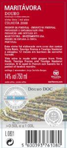 Maritávora-Red-2008-Rótulo