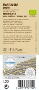 Maritávora-Reserva-White-2012-Rótulo-Trás